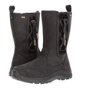 ugg Suvi waterproof leather waterproof black boots